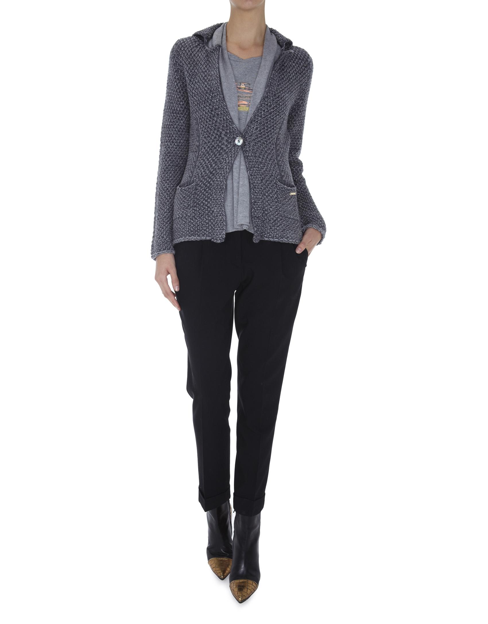blazer tricot gris. Black Bedroom Furniture Sets. Home Design Ideas