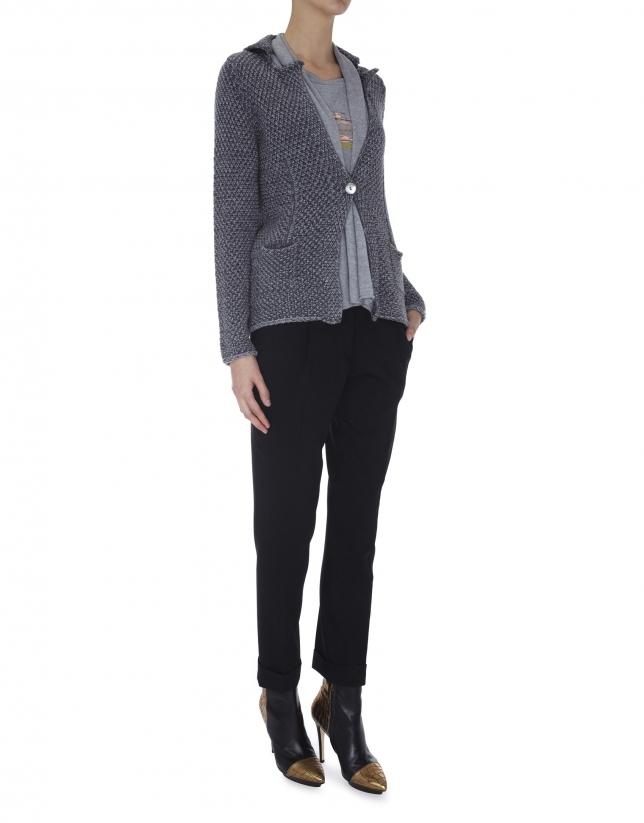 Blazer tricot gris