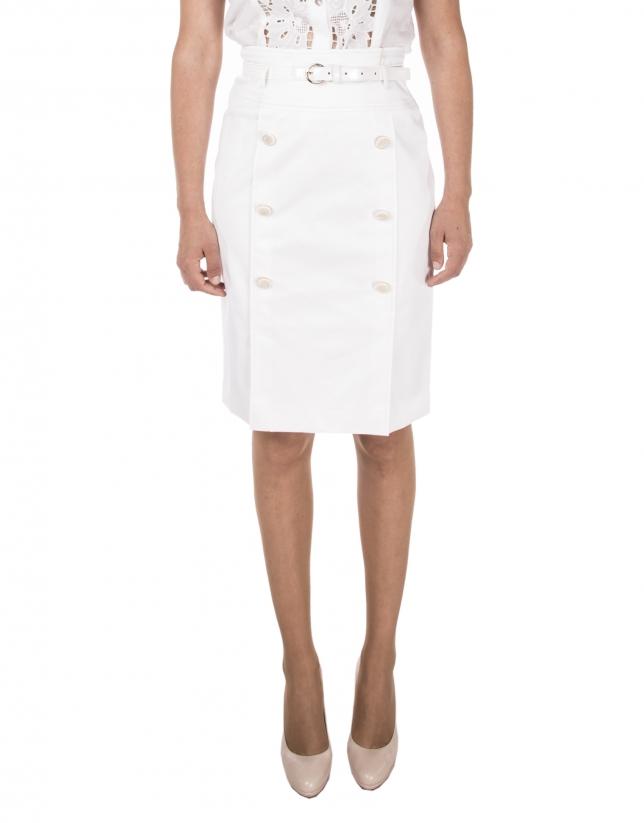 White buttoned skirt