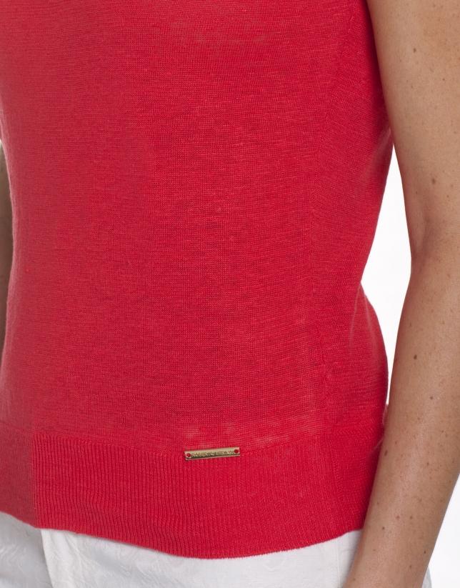 Round neck, linen jersey