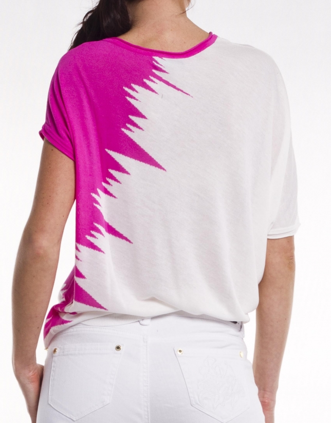 Asymmetric viscose jersey