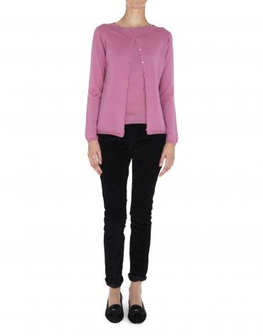 Chaqueta rosa palo para twin set en lana y seda