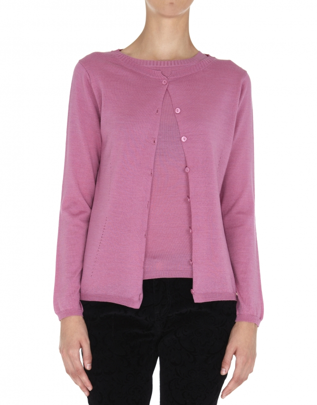 Pink wool and silk jacket