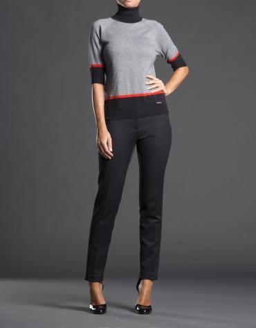 Gray striped fantasy sweater