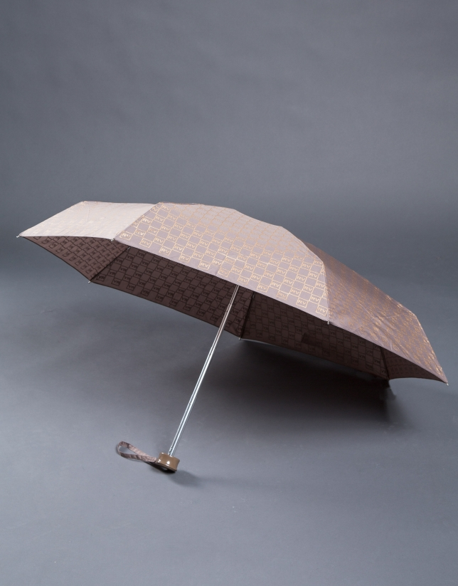 Paraguas plegable logos beige
