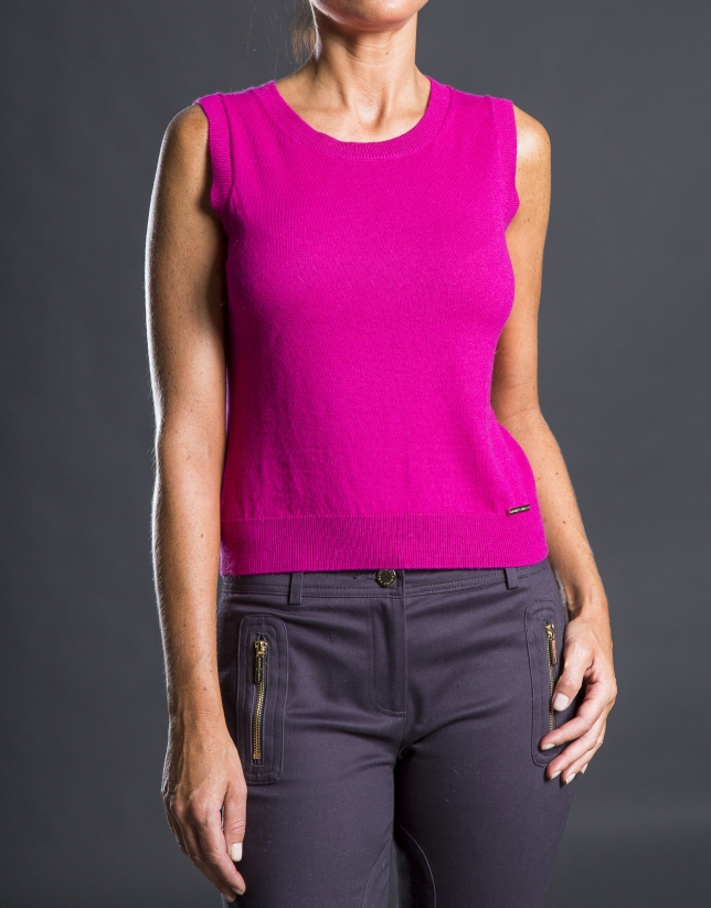 Top tricot corail
