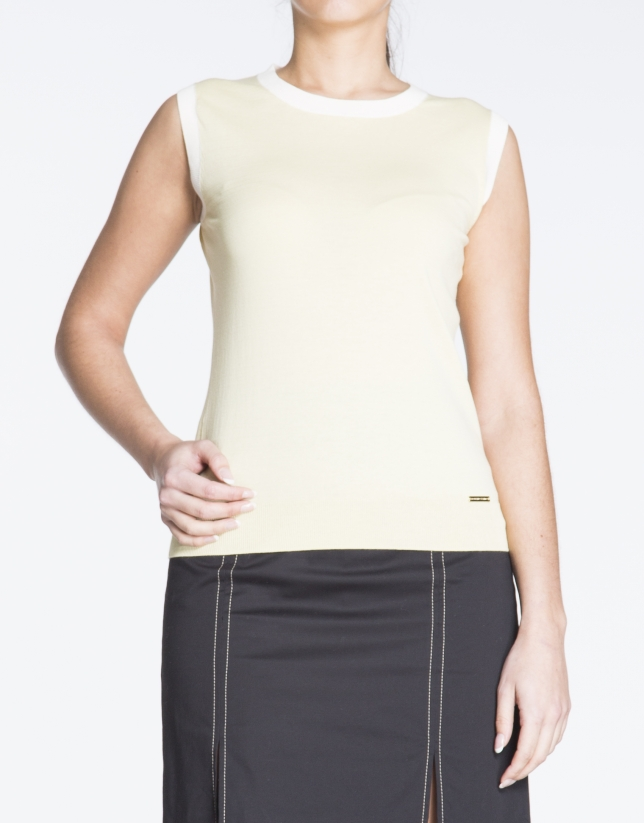 Yellow top for  twinset