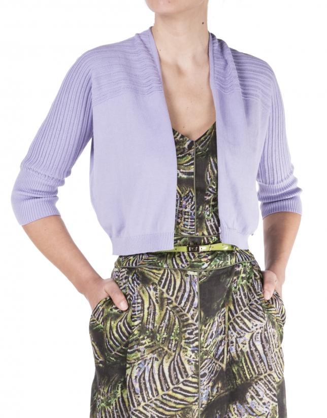 Lavender knit cardigan