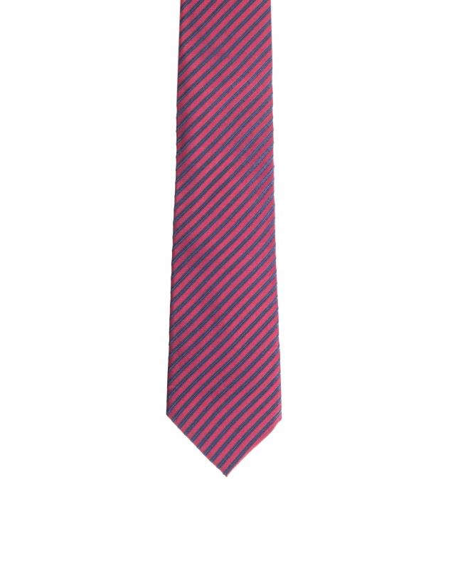 Striped necktie