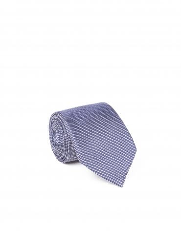 Flower microprint tie
