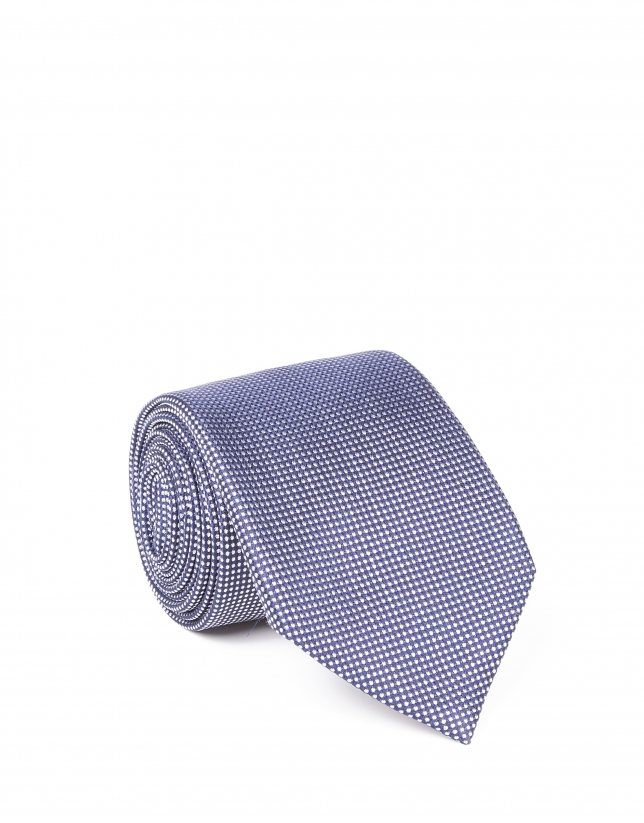 Cravate à fleur marine