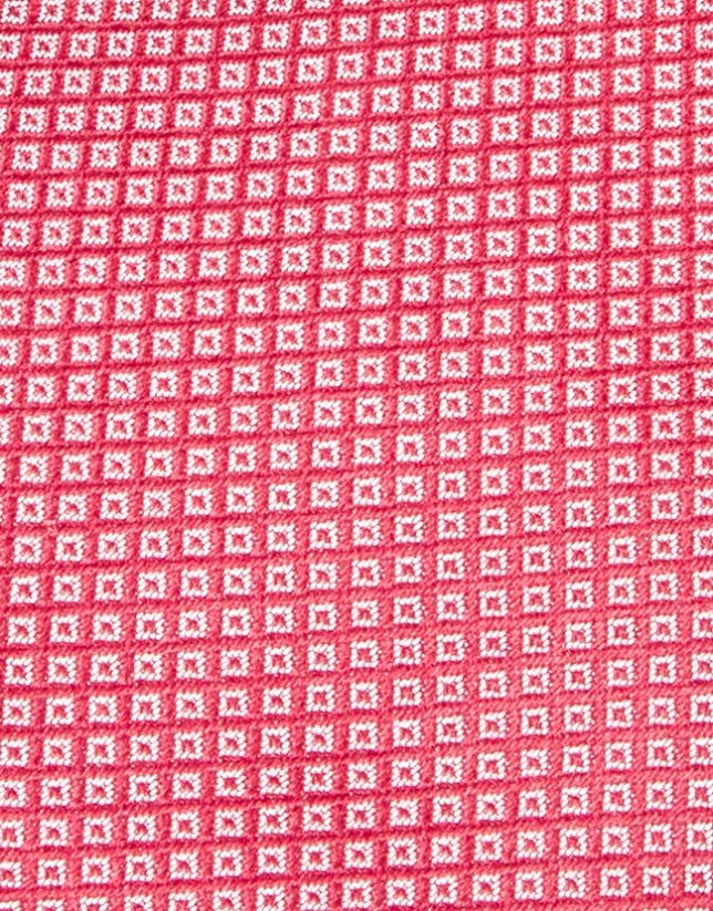 Cravate rouge à micromotifs