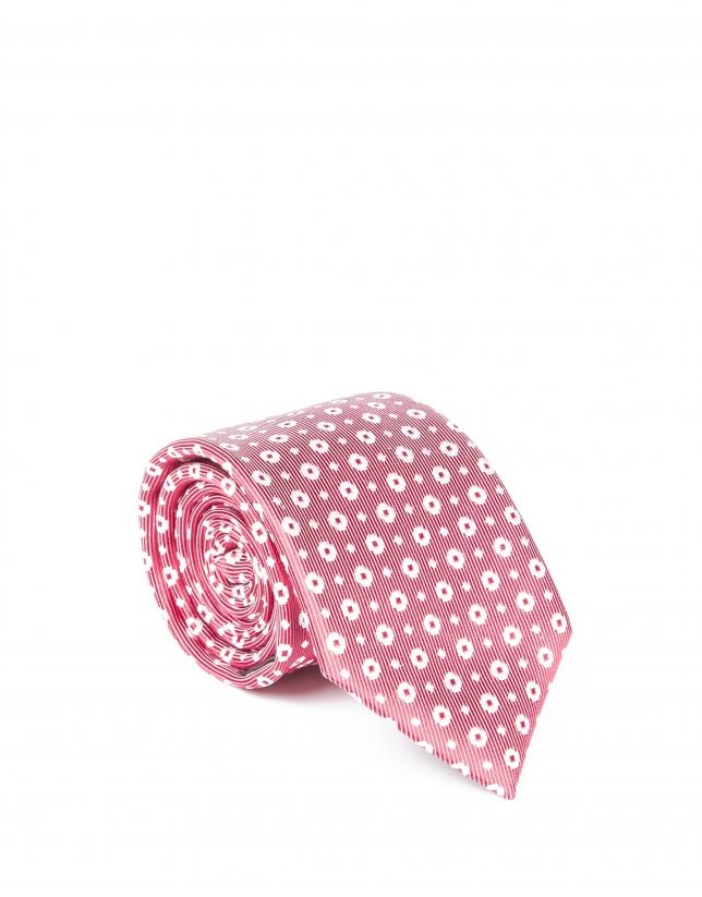 Corbata pala flor roja