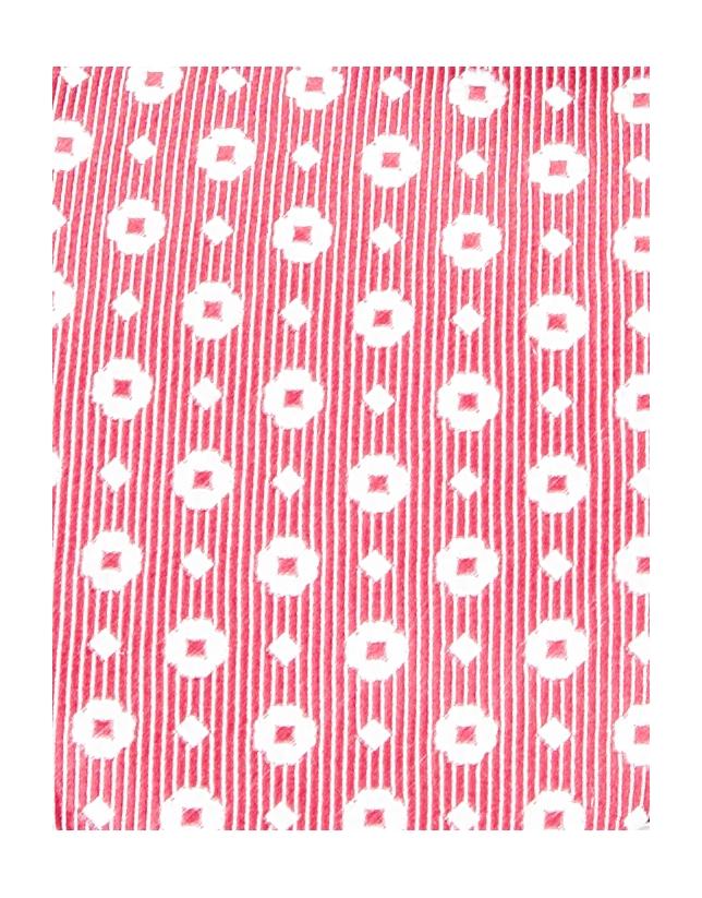 Cravate coupe normale à fleur rouge