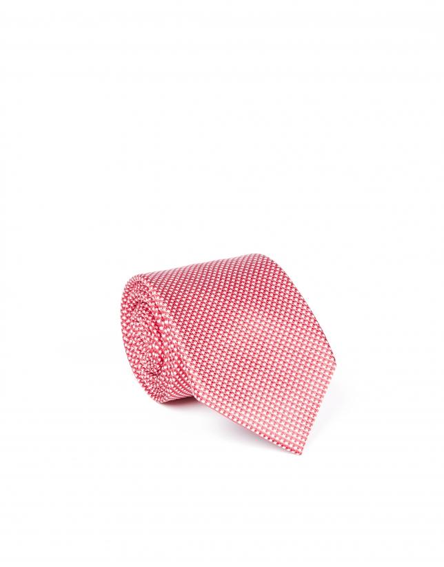 Corbata microdibujo rojo