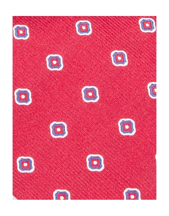 Red flower print tie