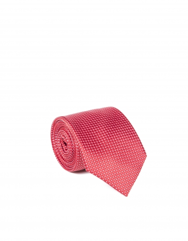 Microprint tie red