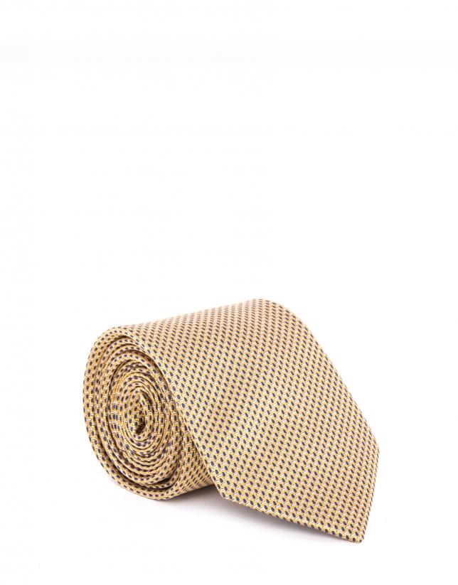 Cravate mangue à micromotifs