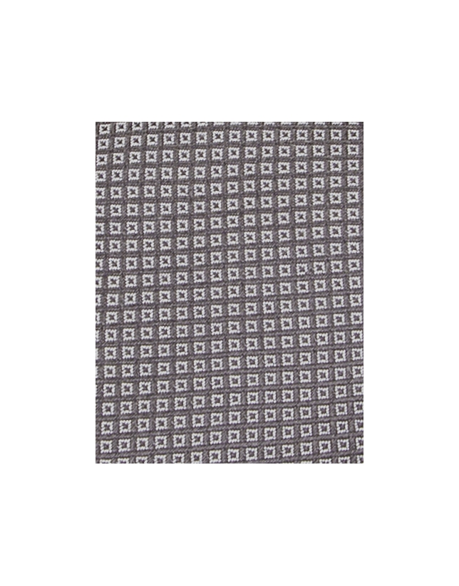 Cravate gris foncé à micromotifs