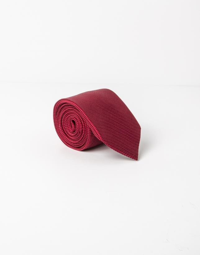 Cravate à microstructure rouge