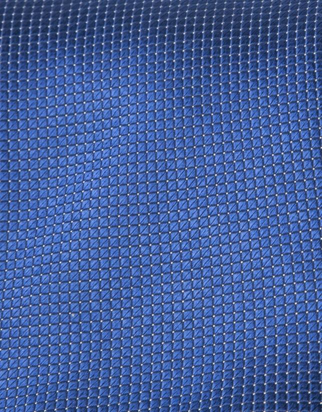 Corbata microestructura azul oscuro