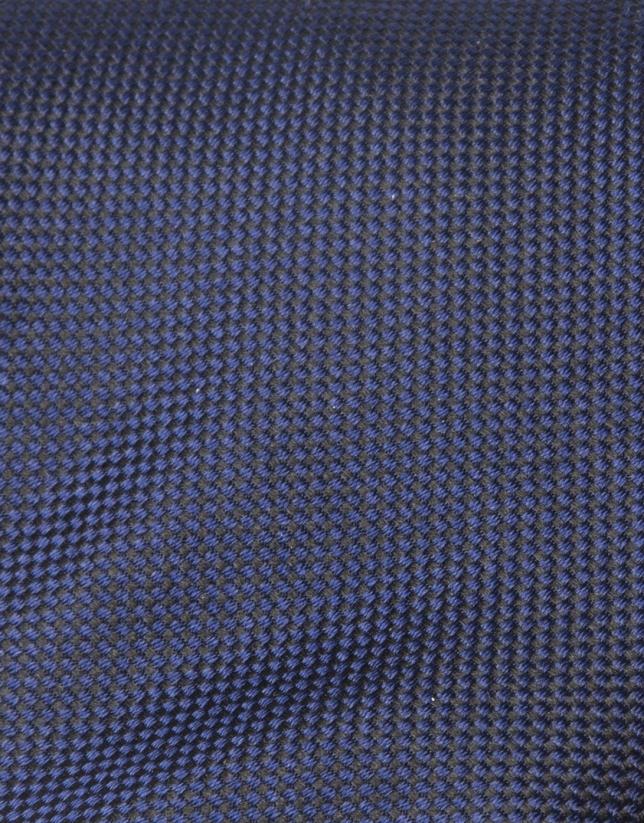 Cravate microstructurée bleu roi
