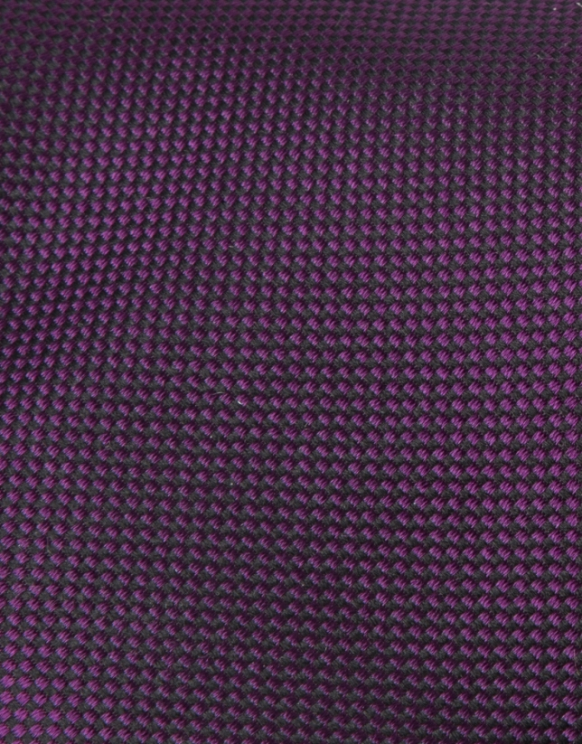 Cravate microstructurée mauve