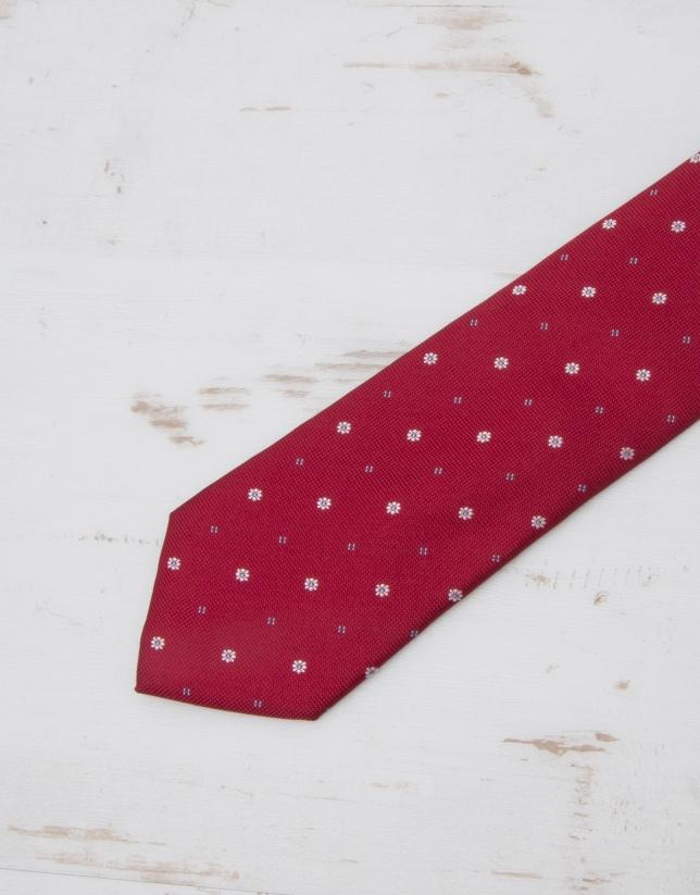 Ivory floral tie