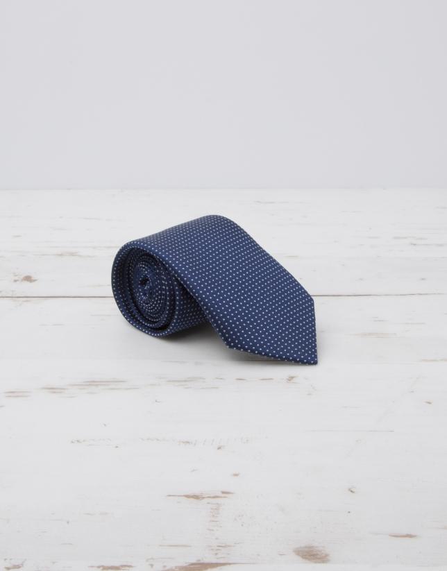 Cravate à micropois écrus