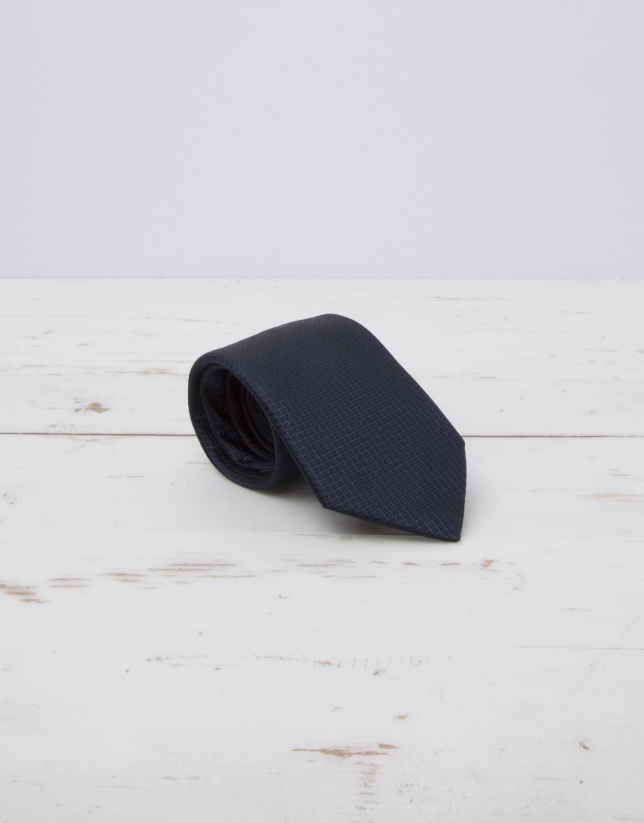 Cravate structurée bleu marine