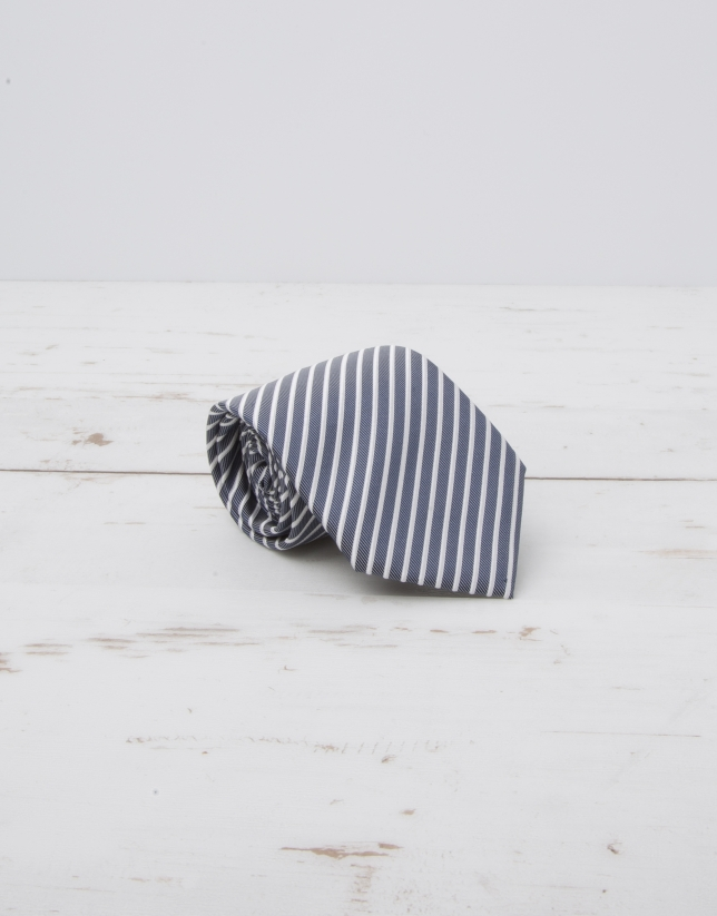 Ivory striped tie