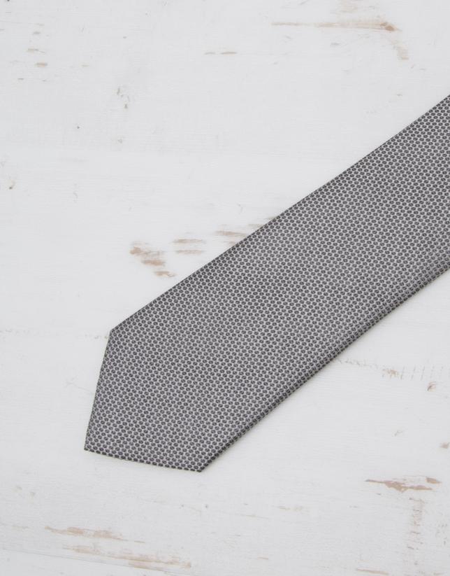 Beige bird's eye tie