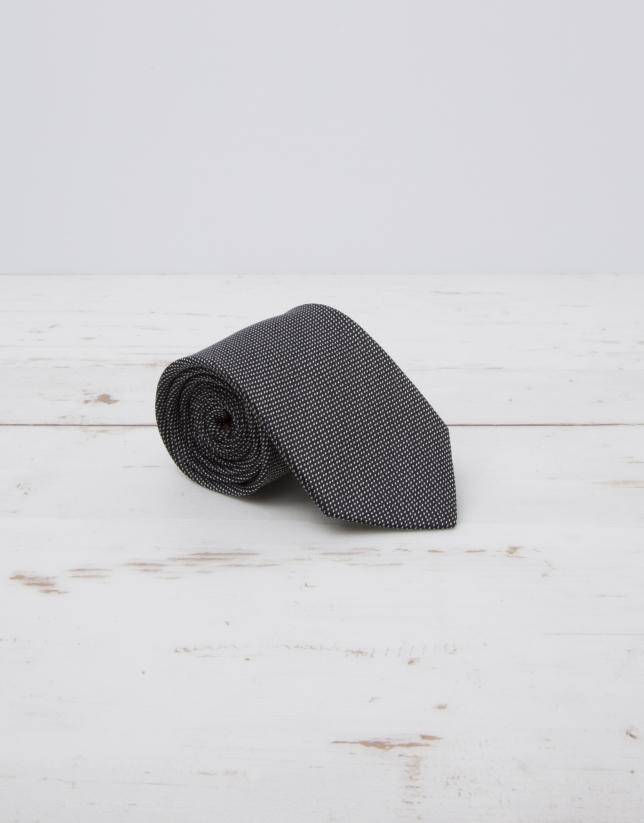 Cravate structurée noire
