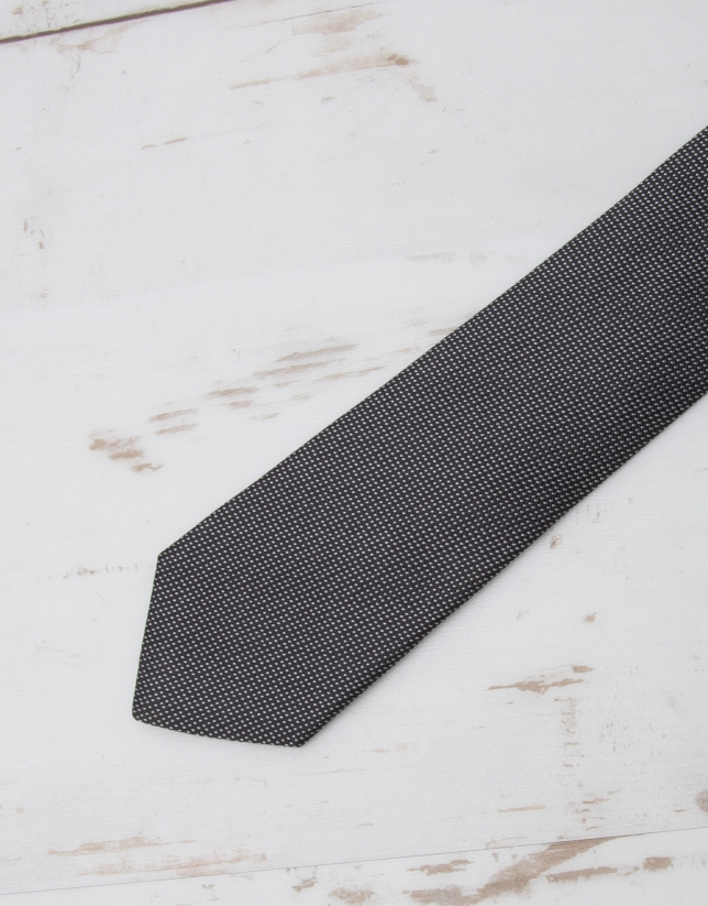 Black structured tie