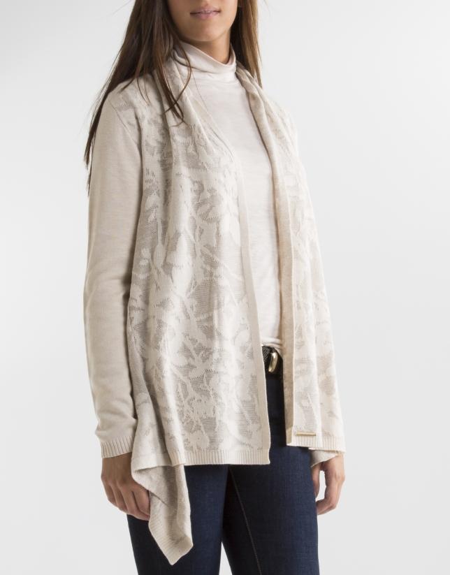 Decorative knit jacket