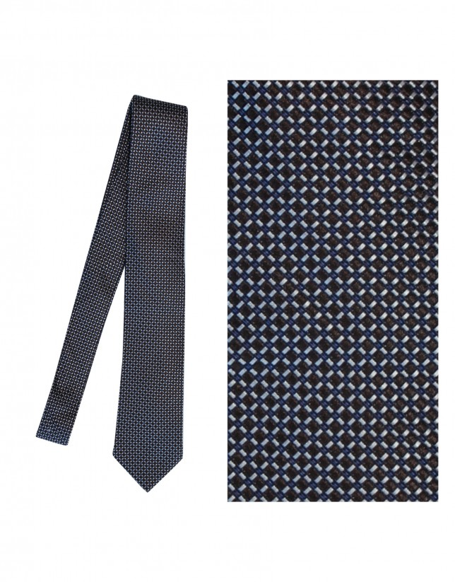 Brown and purple silk tie