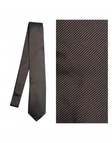 Brown white-square tie