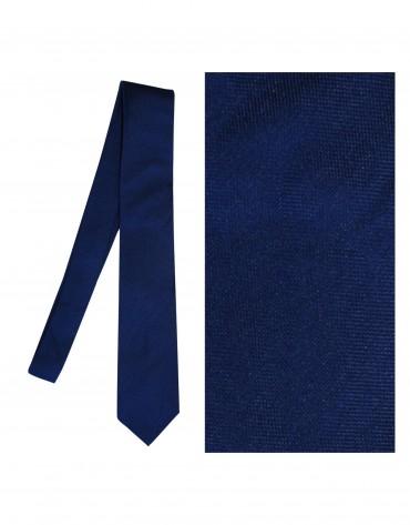 Plain dark blue tie