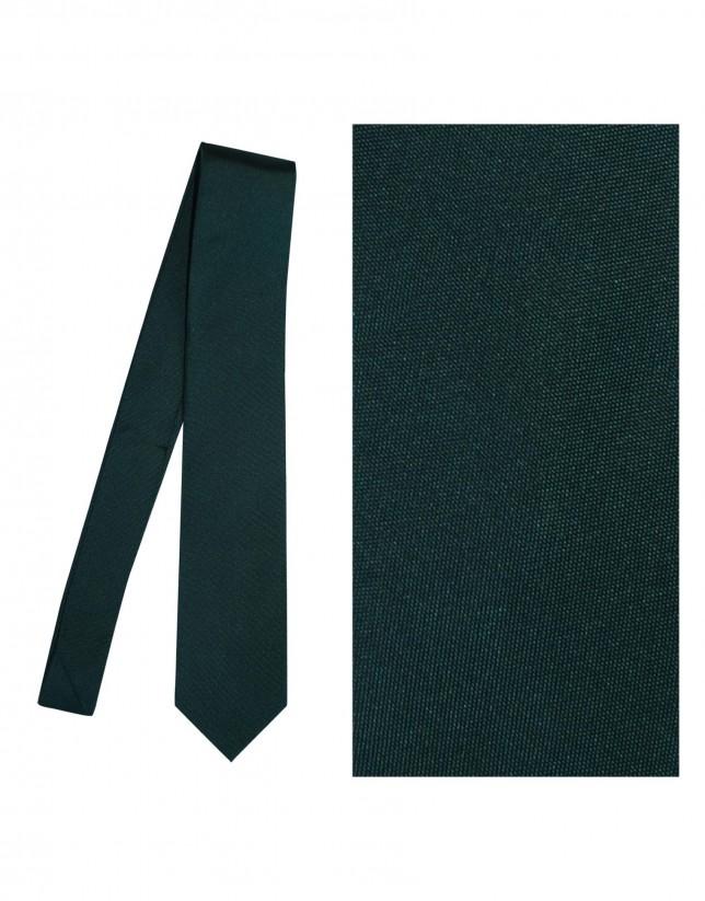 Corbata seda esmeralda