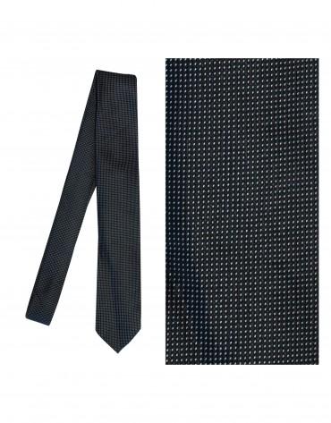 Black silk tie