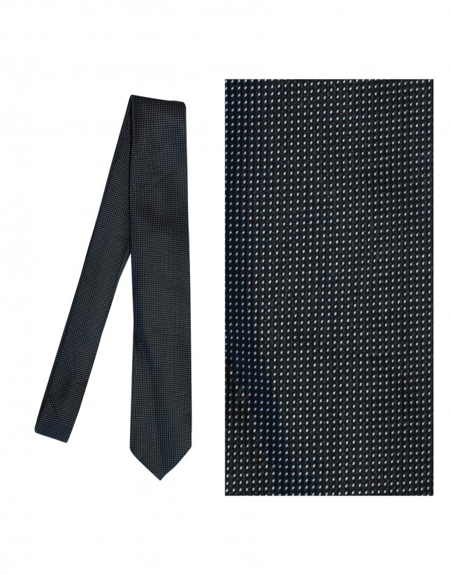 Corbata seda negro