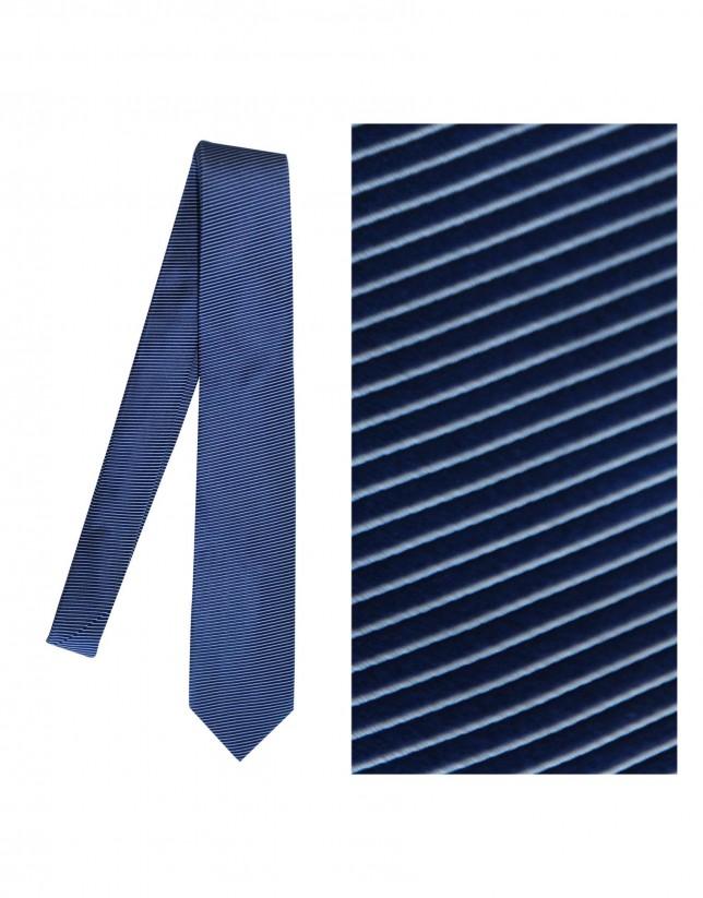 Corbata seda marino