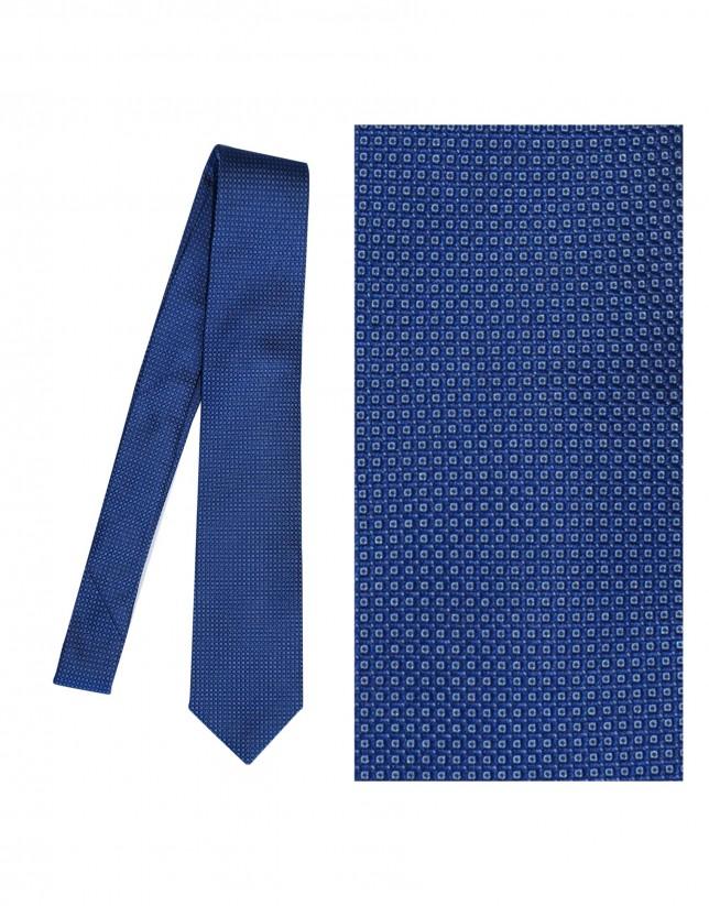 Royal blue silk tie