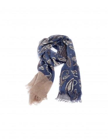Blue print scarf