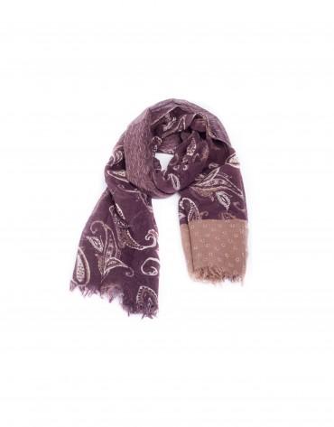Dark red scarf