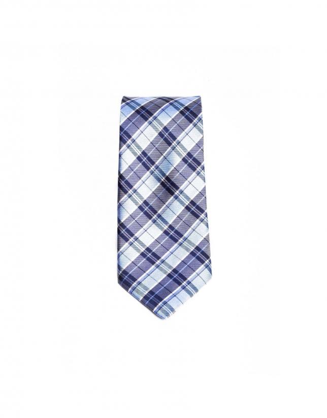 Cravate à carreaux Prince de Galles