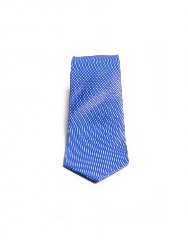 Micro-checked tie