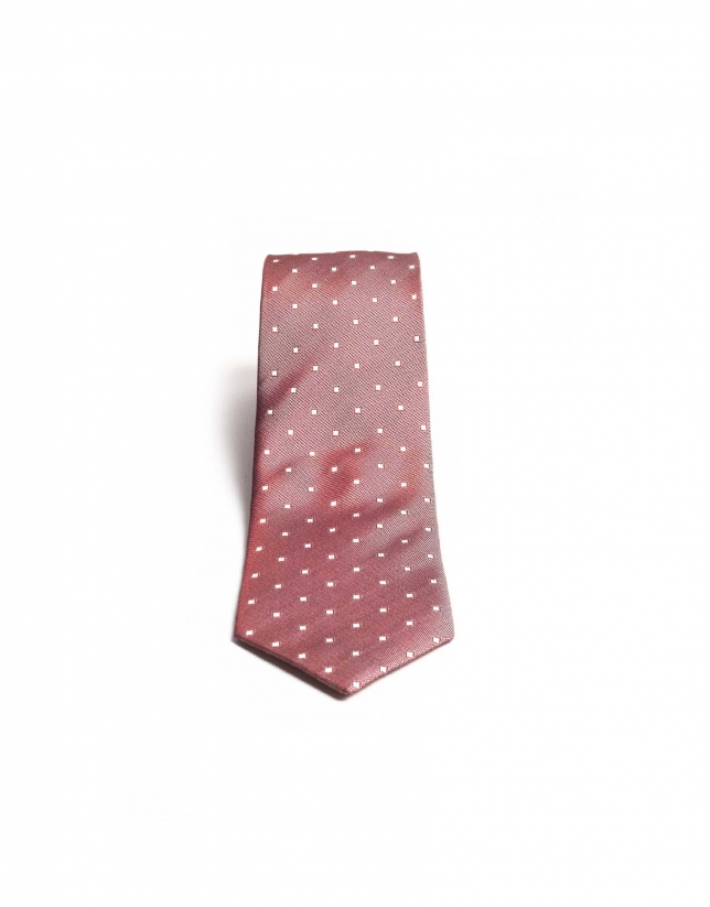 Tie with rhombus designs