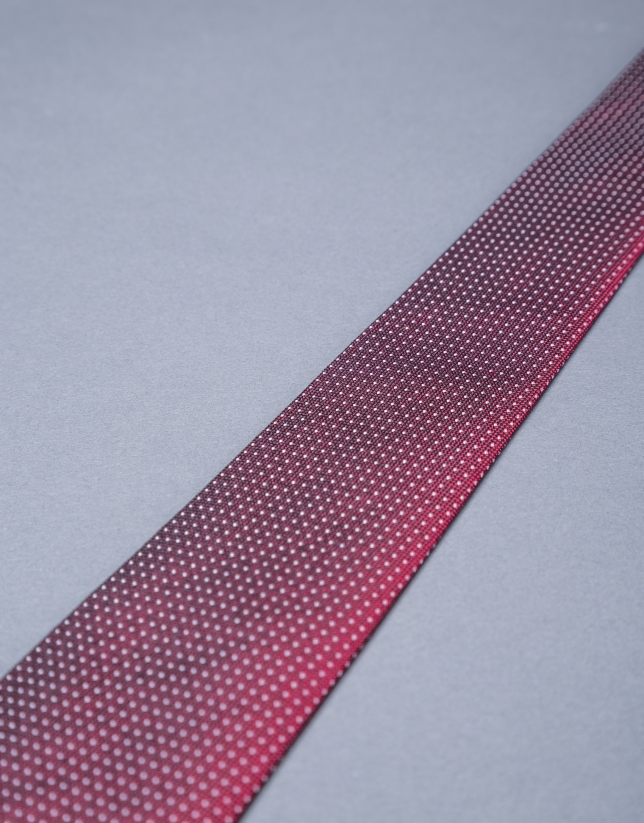 Burgundy-silver micro-dot tie