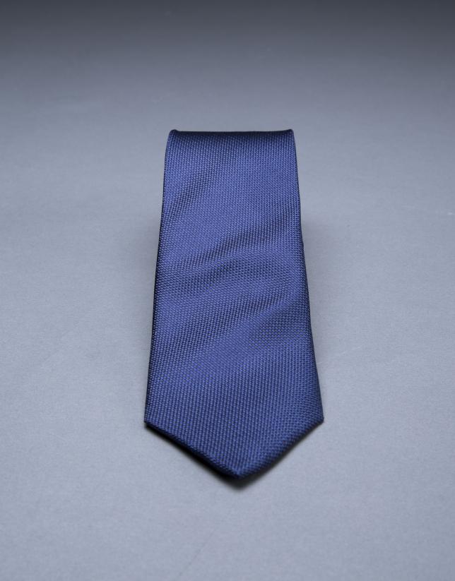 Cravate à micromotif bleu